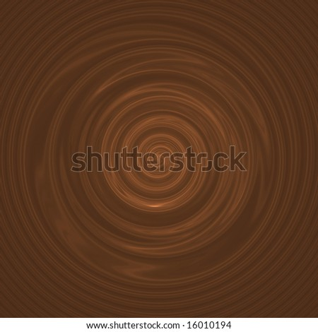 A milk chocolate swirl illustration - it also works as coffee or hot cocoa. - stock photo