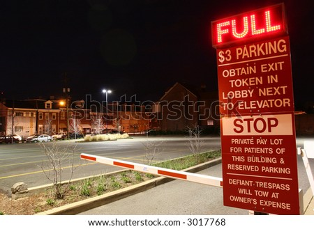 A misleading parking lot. - stock photo