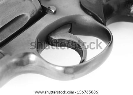 a 38mm pistol gun - stock photo