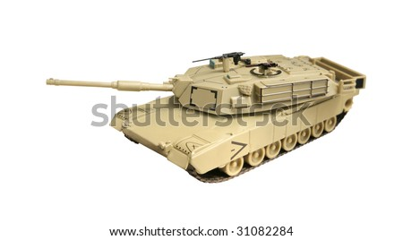 A model Abrams tank, currently used by the US army - stock photo