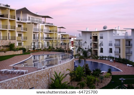 A modern and luxurious building - Lifestyle concept - stock photo