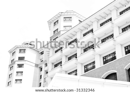 A modern architecture on a white background
