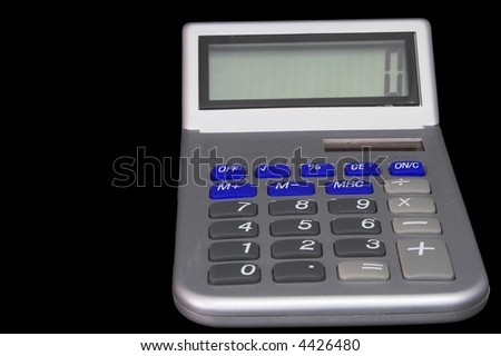 A modern business calculator for performing computations. - stock photo