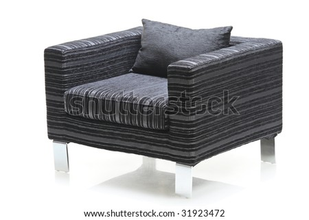 A modern chair isolated on white background - stock photo