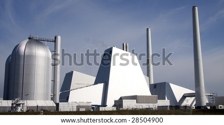 A modern coal power plant - stock photo
