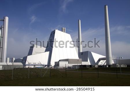 A modern coal power plant - stock photo