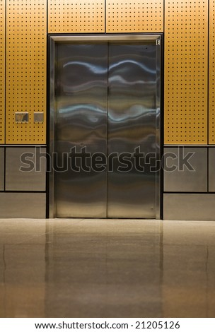 A modern elevator - stock photo