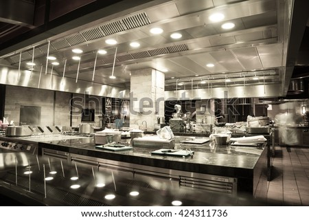 Restaurant Kitchen Photography modern kitchen hotel restaurant stock photo 458368579 - shutterstock