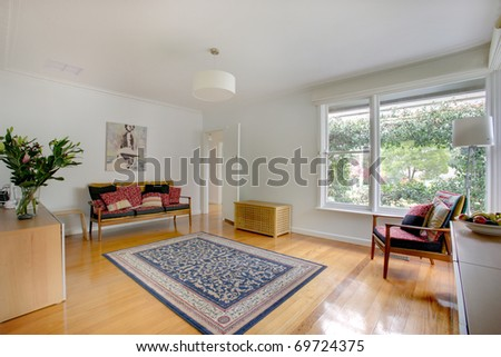 A Modern Living Room - stock photo