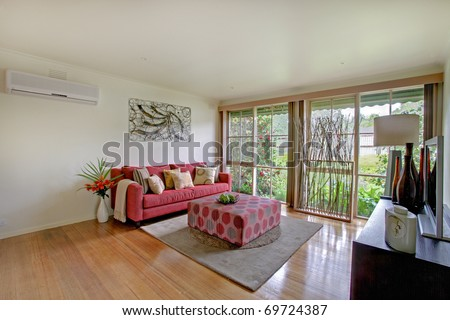 A Modern Living Room - stock photo