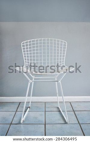 A Modern Mid Century Wire Chair