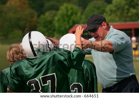 A moment of encouragement - stock photo