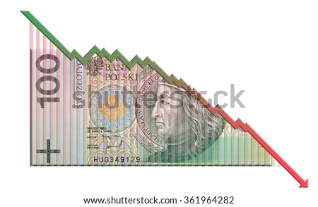 A money bill fused with an arrow that together look like a growth graph and symbolize economic relationships. - stock photo