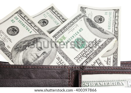a Money dollars on a white background - stock photo