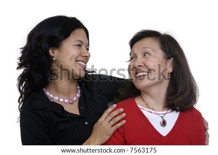 A mother and daughter sharing a moment. Love, bonding, family - stock photo
