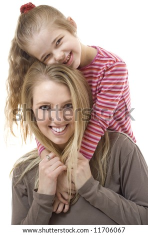 A mother and her adorable child. - stock photo
