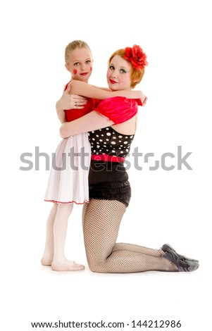 A Mother and Young Daughter are Dancers in the circus