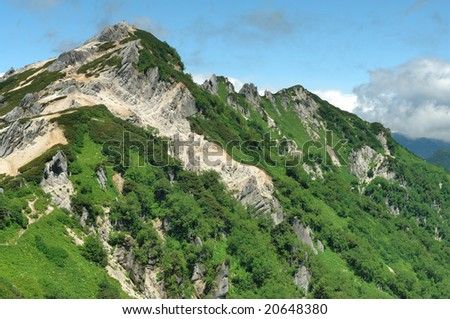 A mountain of the summer - stock photo