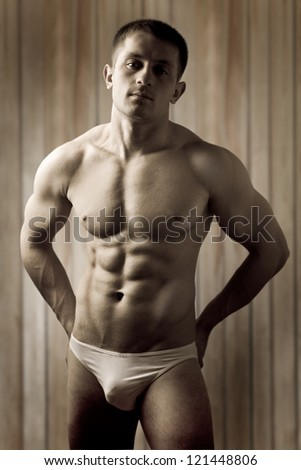 a muscular man - stock photo