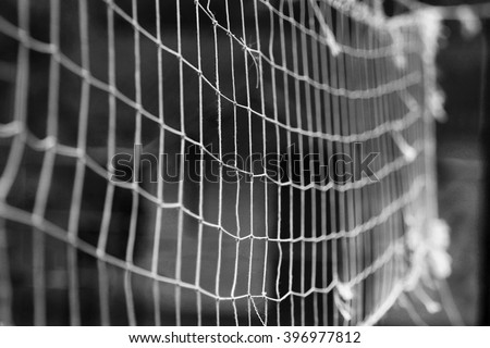 a Net background for the game of volleyball - stock photo