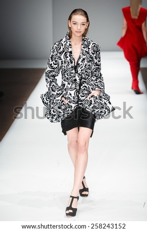 A new collection of designs by Israeli Mashiah Arrive presented at Potsdam Now, a fashion event accompanying the Mercedes Benz Fashion Week Berlin on January 22, 2015 in Potsdam, Germany. - stock photo