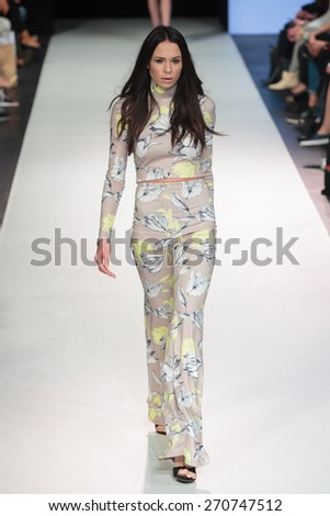 A new collection of designs by polish fashion designer Eva Minge was presented at XII FashionPhliosophy Fashion Week Poland  on April 17, 2015 in Lodz, Poland.
