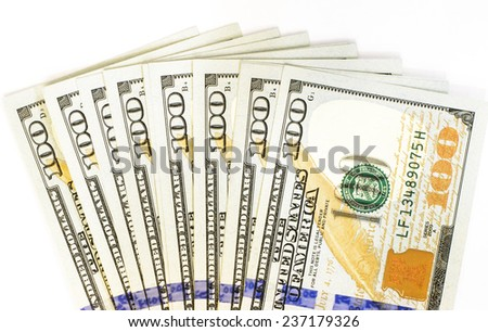 A new one hundred  dollars notes - stock photo