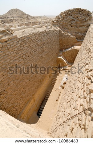a new ruin which is being untombed near the pyramids in egypt.