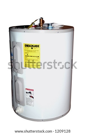 A new water heater. Isolated. - stock photo