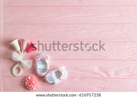 Great Newborn Baby Girl Background Newborn Accessories Stock Photo (Royalty Free)  616957238   Shutterstock