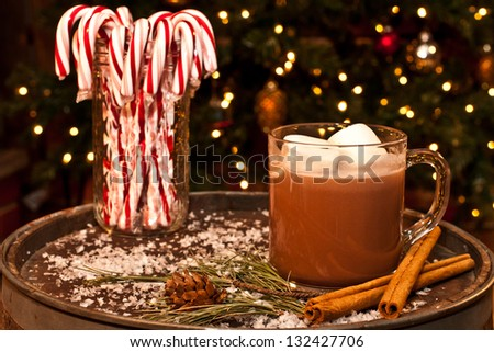 A nice cup of hot chocolate - stock photo