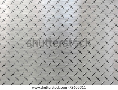 A nice diamond plate rendering on a 45 dgree angle. Perfect as a background - stock photo
