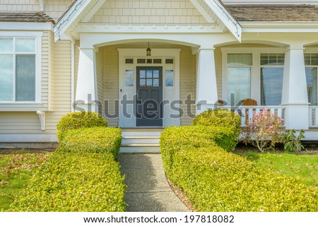 A nice entrance of a luxury house - stock photo
