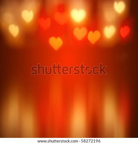 a nice heart lights background - stock photo