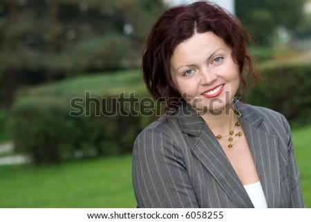 a nice portrait of atractive  business woman