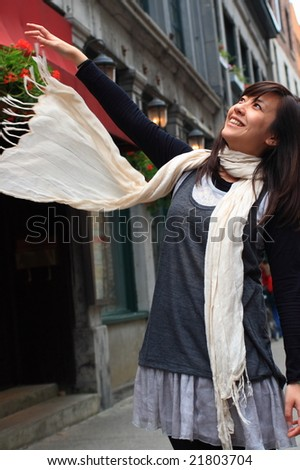 A nice scarf - stock photo