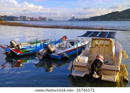 A nice shot of Taiwan Tamshui riverside. - stock photo