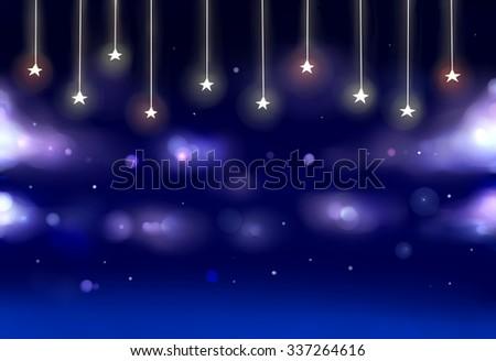 A night sky theater scene - stock photo