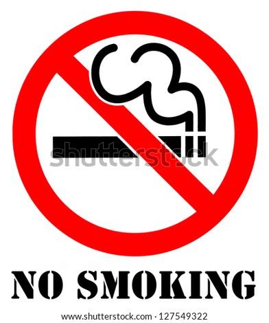 A 'No Smoking' Sign. - stock photo