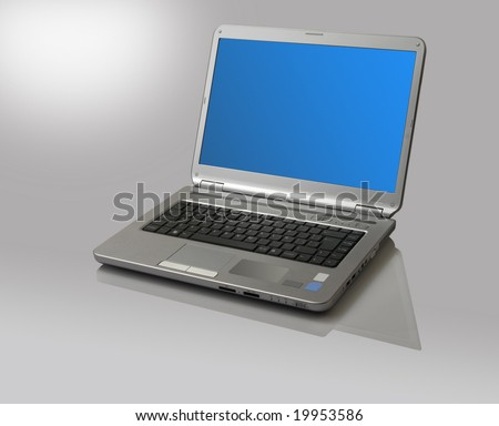 a notebook computer isolated on white, with clipping path
