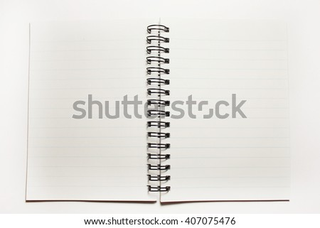 a notebook isolated on white background