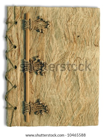 A notebook made of compressed woman fragments - stock photo