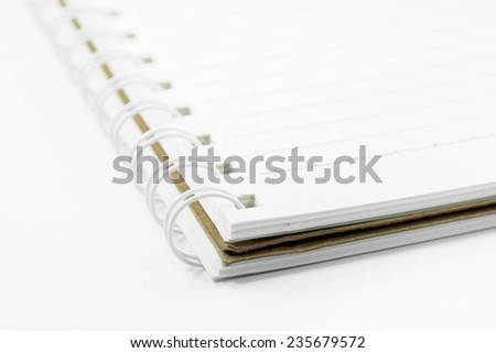 a notebooks on white background