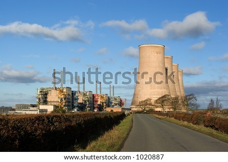 A now disused nuclear power station