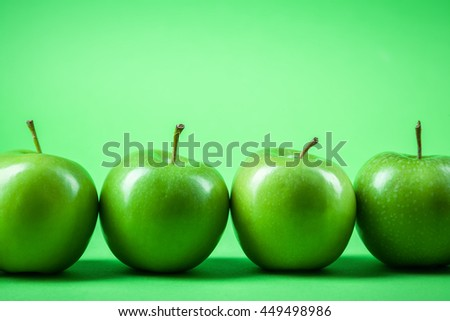 a number of green apples - stock photo