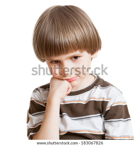 a offend boy - stock photo