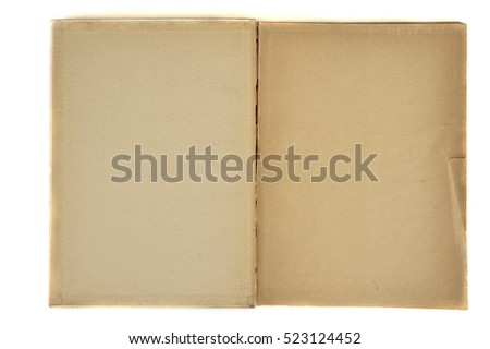 A Old Book, isolated on white background