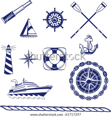a one-color set of detailed icons - stock photo