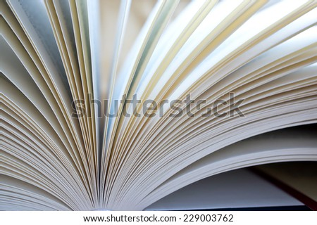 A open book with many pages - stock photo