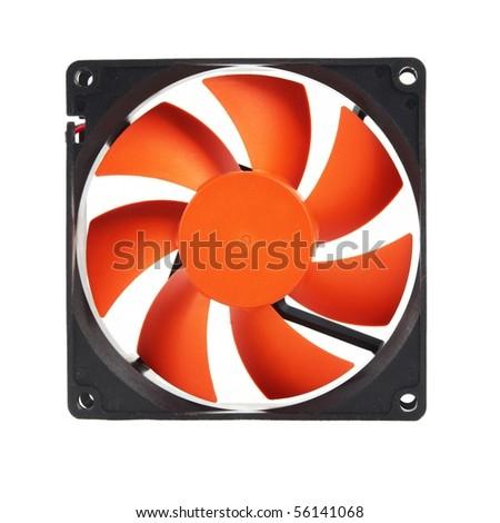 a orange ventilator on white - stock photo